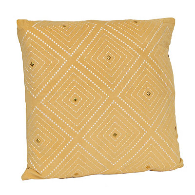 Yellow Zafar Embroidered Pillow