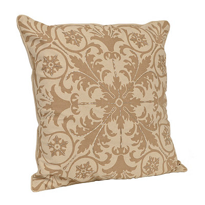 Taupe Ally Beads Pillow