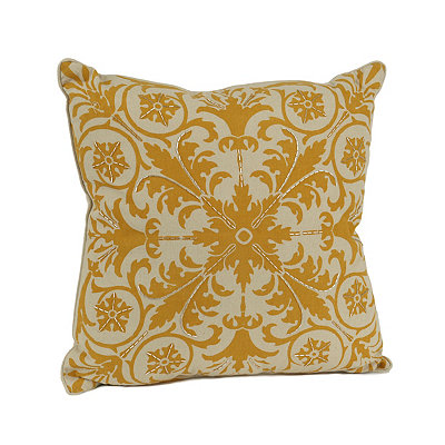 Yellow Ally Beads Pillow