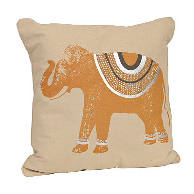 Yellow Ezra Elephant Pillow