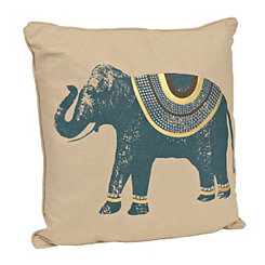 Teal Ezra Elephant Pillow