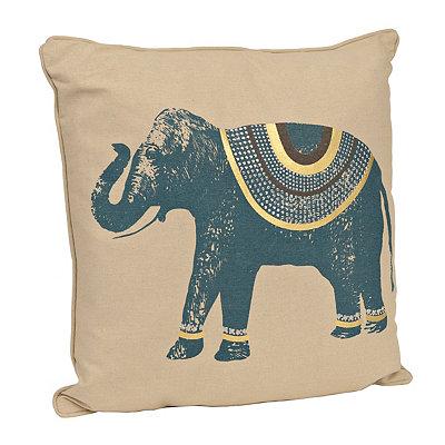 Teal Ezra Elephant Pillow