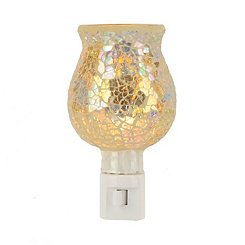 Crushed Silver and Gold Mosaic Night Light