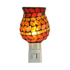 Red Leaf Mosaic Night Light
