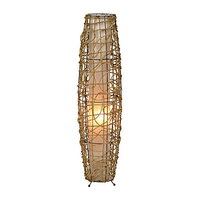 Light Natural Cane Floor Lamp