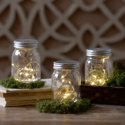 Decorative Pre-Lit Mason Jar