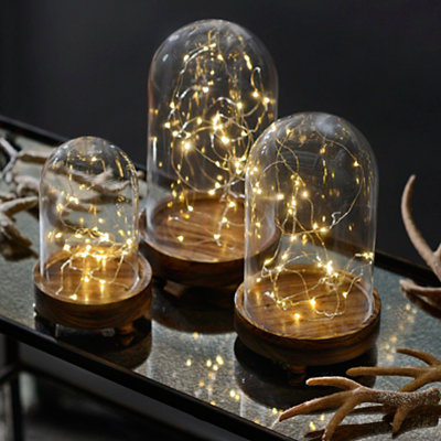 Pre-Lit String Light Cloche, Large