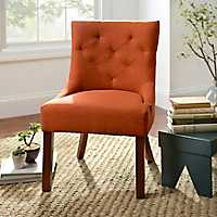 Spice Button-Tufted Accent Chair
