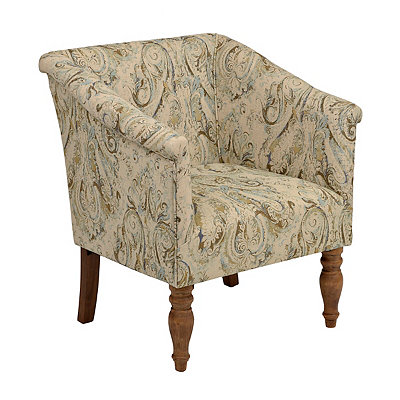 Blue Paisley Arm Chair