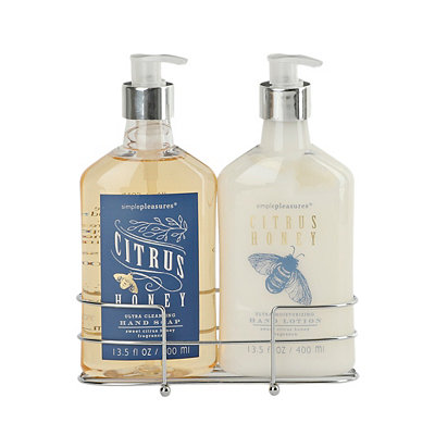 Citrus Honey Soap and Lotion Caddy Set