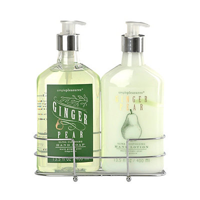 Ginger Pear Soap and Lotion Caddy Set