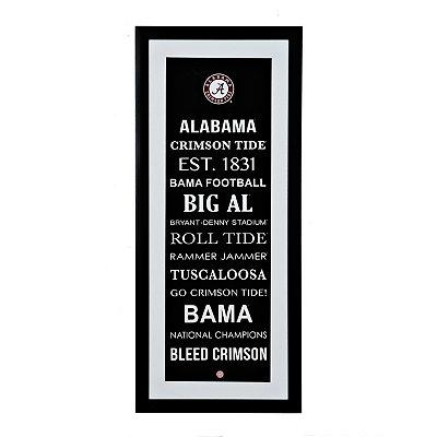 Alabama Typography Framed Art Print