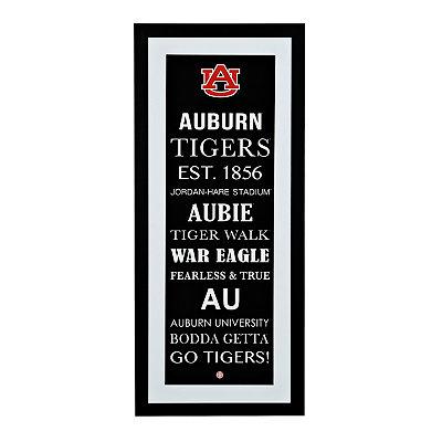 Auburn Typography Framed Art Print