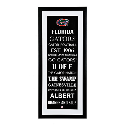Florida Typography Framed Art Print