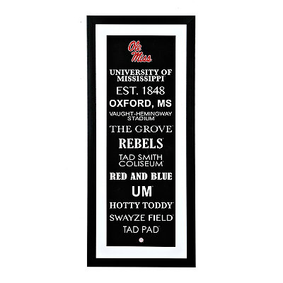 Ole Miss Typography Framed Art Print