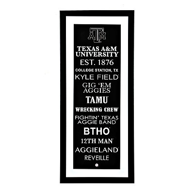 Texas A&M Typography Framed Art Print
