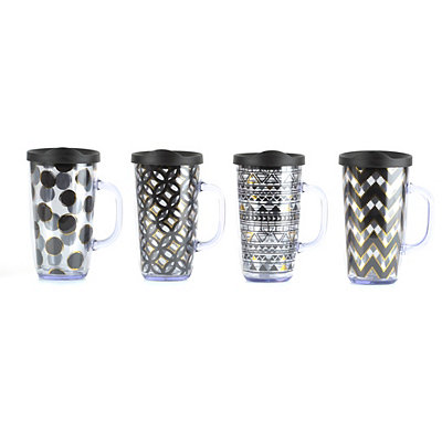 Black and Gold Print Giant Tumblers
