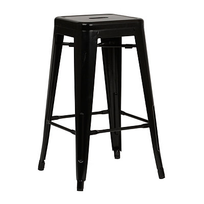 Metropolis Black Metal Counter Stool