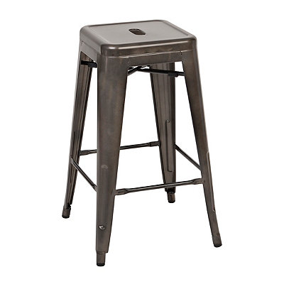 Metropolis Gunmetal Metal Counter Stool