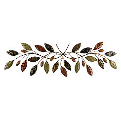 Belmont Multi Color Leaves Metal Plaque