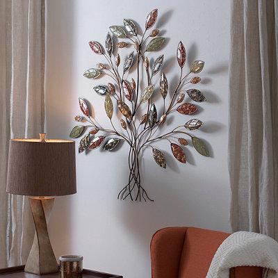 Belmont Multi Color Tree Metal Plaque