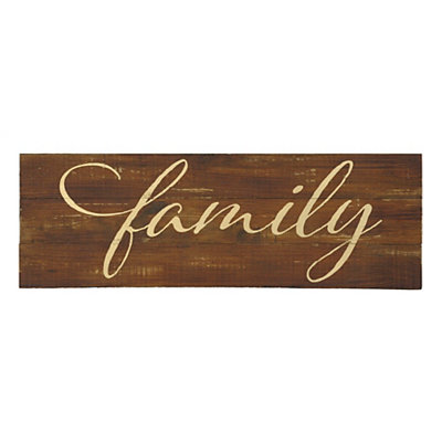 Gold Family Wood Plank Plaque
