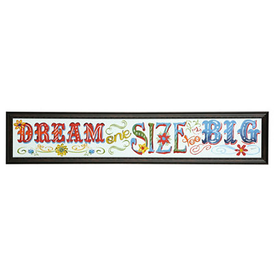 Dream One Size Too Big Framed Art Print