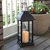 Dark Rubbed Bronze LED Lantern
