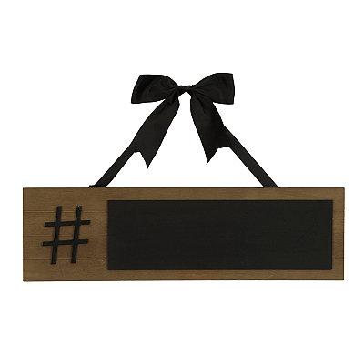 Hashtag Wood Plank Chalkboard Plaque