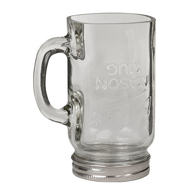 Bottoms Up Mason Jar Glass Mug