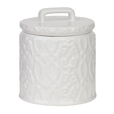 Jade White Ceramic Jar