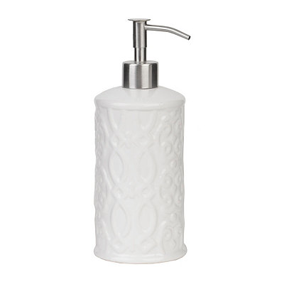 Jade White Ceramic Soap Pump