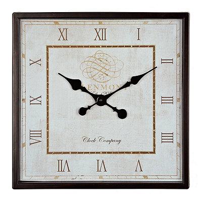 Dark Brown Square Clock