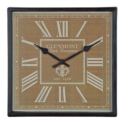 Bronze and Burlap Fleur-de-Lis Clock
