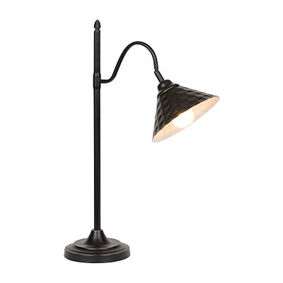 Bronze Hammered Metal Task Lamp