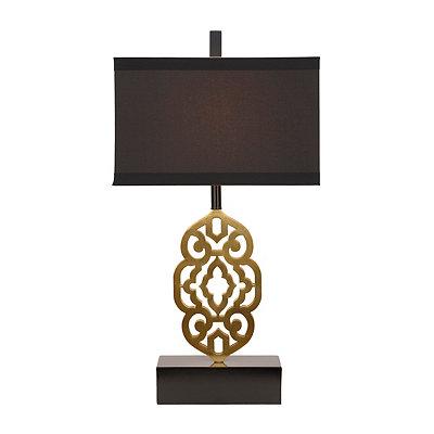 Cutout Brass Metal Table Lamp