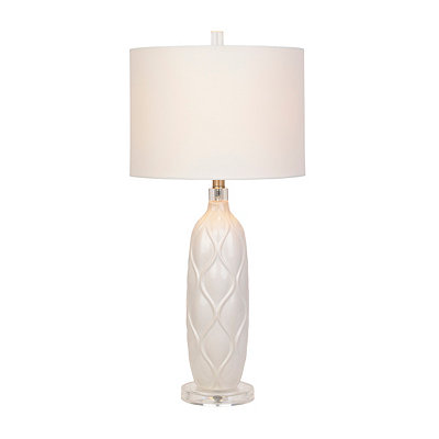 White Ogee Ceramic Table Lamp