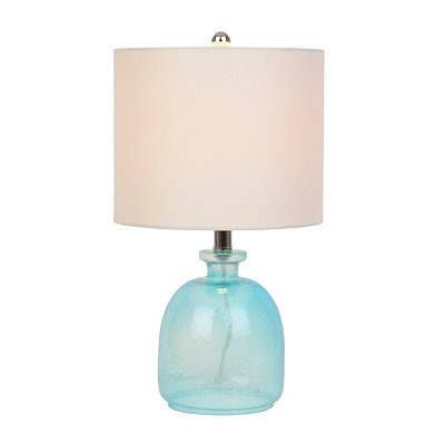 Turquoise Hammered Glass Table Lamp
