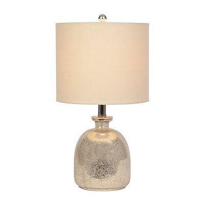 Silver Mercury Glass Jug Table Lamp