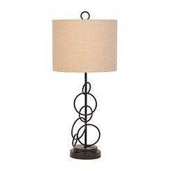 Bronze Metal Circles Table Lamp