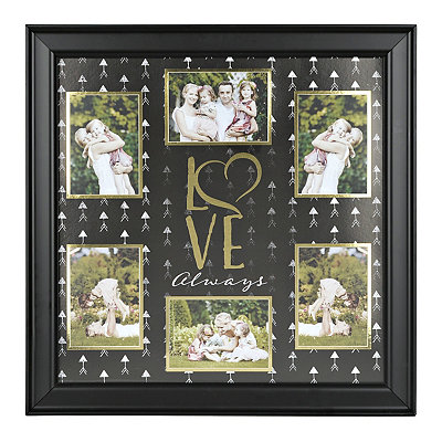 Black and Gold Love Always Collage Frame