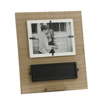 Natural Wooden Chalkboard Picture Frame, 5x7