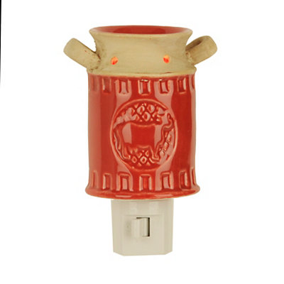 Ceramic Red Cow Milk Can Night Light