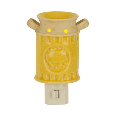 Ceramic Yellow Pig Milk Can Night Light