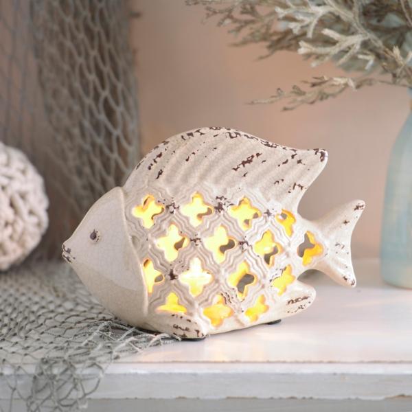 Cream Ceramic Mermaid Night Light