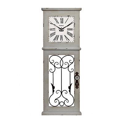 Gray Door Panel Wall Clock