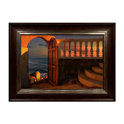 Terracotta Balcony Framed Art Print