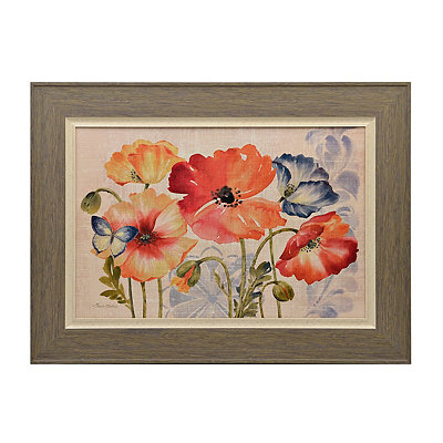 Watercolor Poppies Framed Art Print