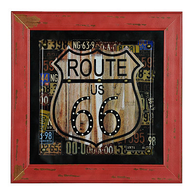 Studded Route 66 Framed Art Print