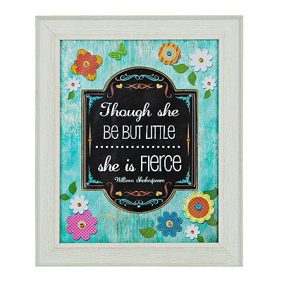 Jeweled She is Fierce Framed Art Print